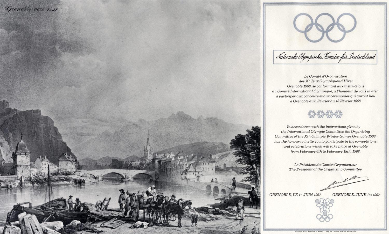 Einladung | X. Olympische Winterspiele 1968, Grenoble